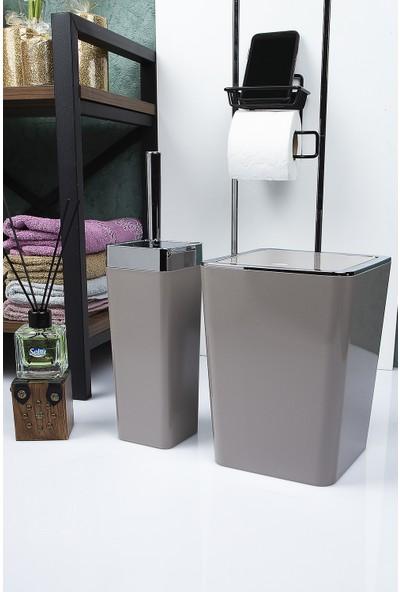Vip Gross Banyo Takımı Kahve-Gümüş