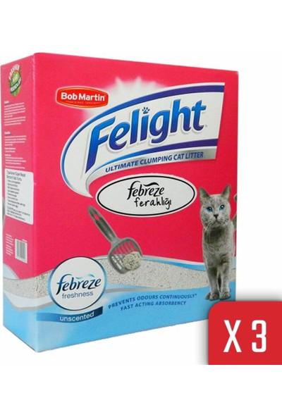 Felight Bob Martin Felight Febreze Süper Beyaz Bentonit Topaklanan Kedi Kumu 24LT
