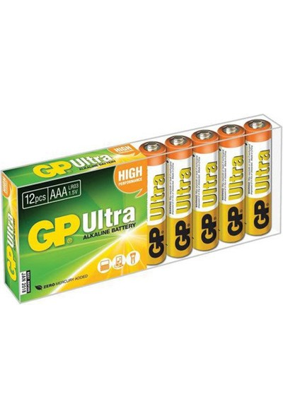 Gp 24AU Alkalin Ince Pil 12'li Paket