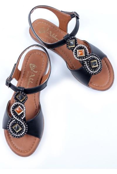 Ayakkabı Vakti Düz Taban Taşlı Günlük Kadın ve Genç Kız Sandalet BAK77