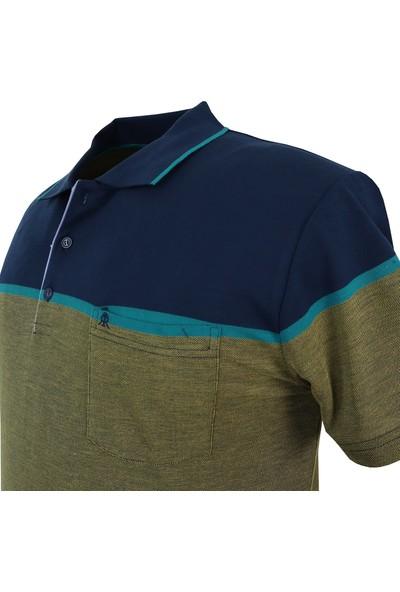 Rugatchi Büyük Beden Erkek Tişört Panolu Pike Polo Yaka Cepli