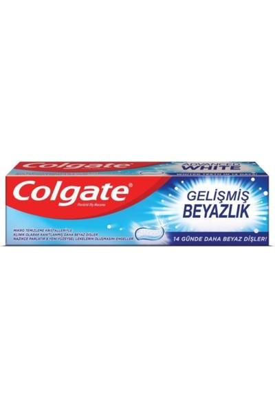 Colgate Diş Macunu Gelişmiş Beyazlık 3 x 75 Ml, Üçlü Etki Orta Diş Fırçası
