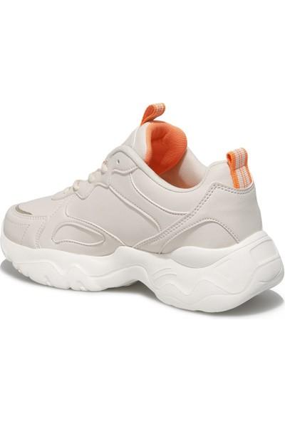 Halley H3 Pu W 1fx Ekru Kadın Sneaker Ayakkabı