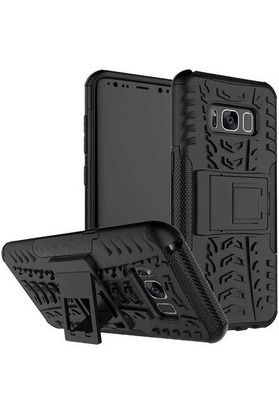Canpay Samsung Galaxy S8 Plus Kılıf Ultra Koruma Gizli Standlı New Hard Case