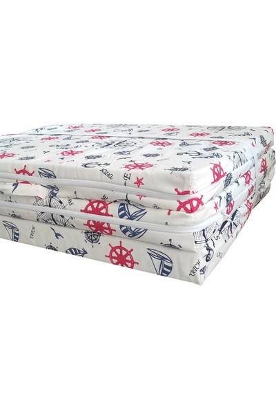 Vip Home Concept Tek Kişilik Katlanır Yer Yatağı Sünger Yatak Marin 80X180 Cm-7 cm