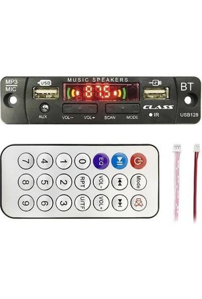 Class USB-128 Aux USB - Sd - Bluetooth Çevirici Kumandalı