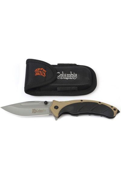 Columbia Paracord El Fenerli Kamp Bıçağı Çakı Seti Kahve