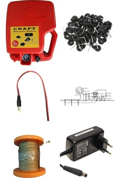 Craft 14KW Elektrikli Çit 10 Dönüme Göre Elektrikle Çalışan Takım Elektrikli Çit Makinası