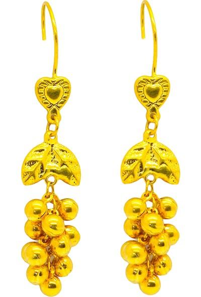 Cigold Taşsız 22 Ayar Altın Küpe 4,98 gr