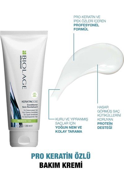 Biolage Keratindose Şampuan 400 ml + Saç Bakım Kremi 200ML Bakım Seti