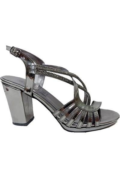Erbay 51 Rugan Trend Fashıon Kadın Sandalet