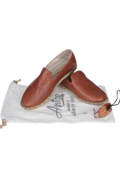 Aintap Deri Kahverengi Bayan Gaziantep Yemeni Ayakkabı