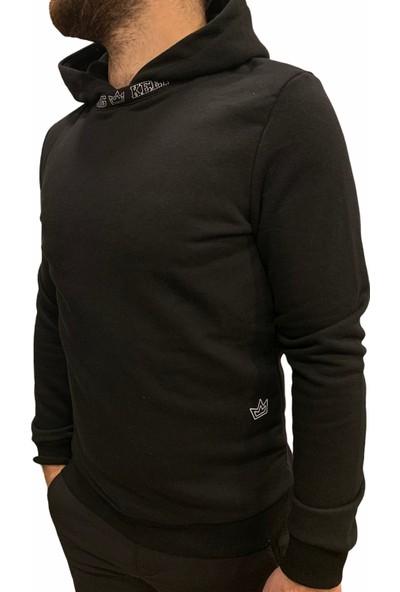 Breezy Yakası Baskılı Erkek Siyah Sweatshirt 20402017-02