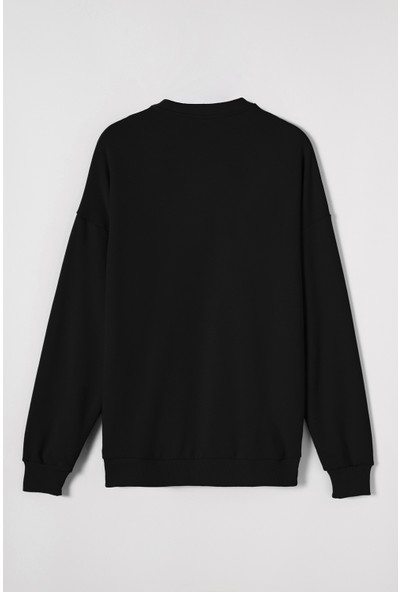 Breezy Enjeksiyon Aksesuarlı Erkek Siyah Sweatshirt 20402004-02