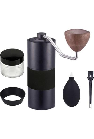 Escobarista Çelik Bıçaklı Manuel Kahve Değirmeni - Siyah