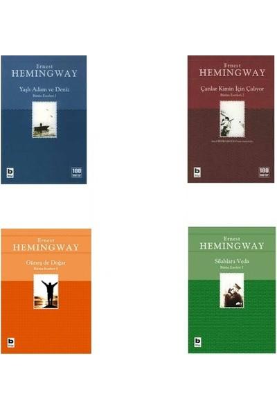 Ernest Hemingway / 4 Kitap Set - Yaşlı Adam ve Deniz - Çanlar Kimin Için Çalıyor - Silahlara Veda - Güneş De Doğar