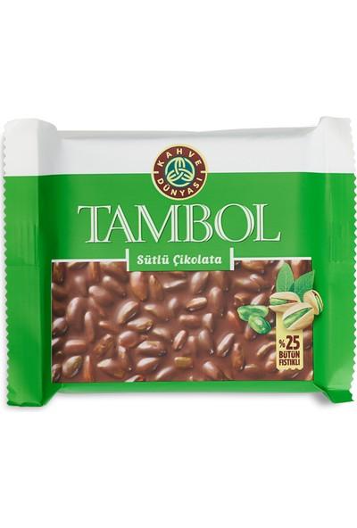 Kahve Dünyası Tambol Bütün Fıstıklı Sütlü Çikolata 100 gr