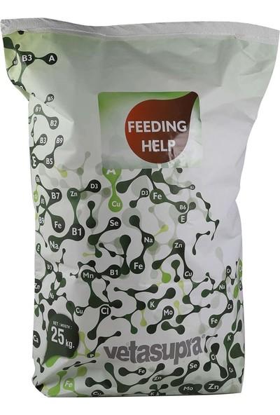 Vetasupra Feeding Help Büyükbaş ve Küçükbaşlar Için Süt Verimini Artırmaya Yönelik Hayvan Yem Katkı Maddesi 25 kg Kraft Paket