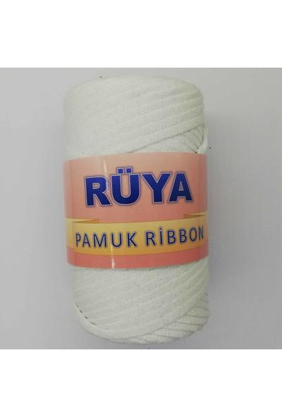 Rüya Pamuk Ribbon Ip Beyaz ( 250 gr )