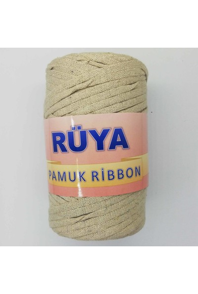 Rüya Pamuk Ribbon Ip Taş Rengi ( 250 gr )