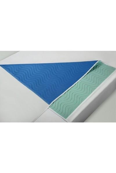 Ata Exclusive Fabrics Abso 3 Lü Paket (3 Adet) 5 Katlı Yıkanabilir,emici,sıvı Geçirmez, Kanatlı Hasta Altı Pedi 75X90 cm