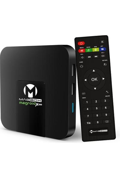Magbox Magroıd X-200 S905W 2gb Ddr Ram 16GB Rom 4K Ultra Hd Mini Androıd 9.0 4K Ip Tv Box