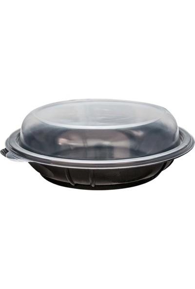 Orego Kapaklı Siyah Salata Seti 1000 gr (Sıcağa Dayanıklı) - 80'li