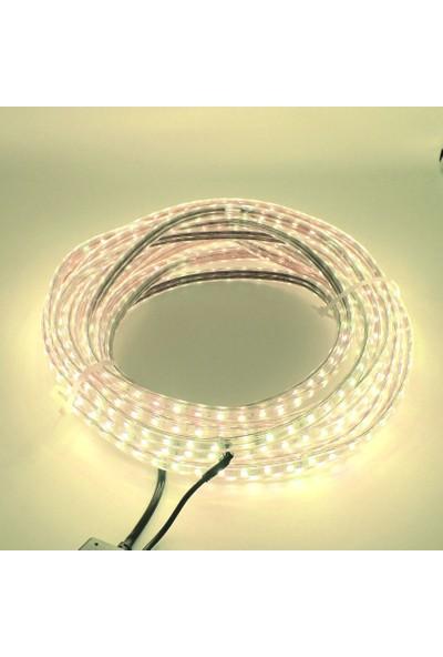 Sunlight - Tak Kullan Hortum Şerit LED Işık 3 Çip Fişli 5 Metre 220 V