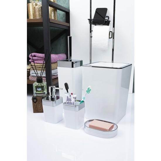 Vip Gross Banyo Seti Beyaz-Gümüş