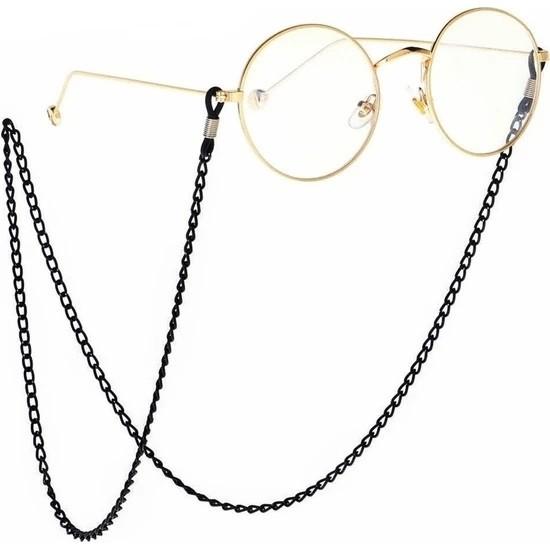 Cosibella Unisex Siyah Zincir Gözlük Aksesuarı