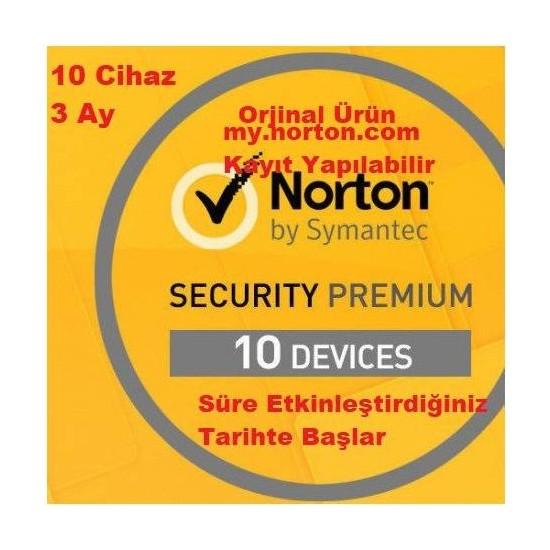 Norton Security Premium 10 Cihaz 3 Ay Lisans/Key