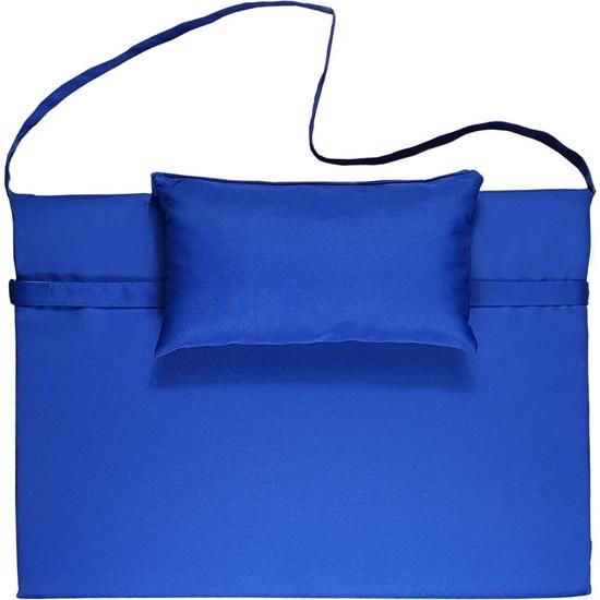 Bysay Taşınabilir Katlanır Çanta Şezlong Minderi, Yastıklı Minder (Mavi)