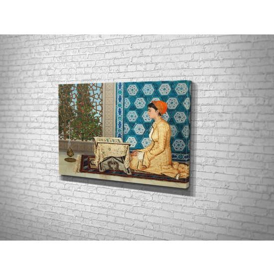 Tablo 360 Osman Hamdi Bey- Kuran Okuyan Kız Kanvas Tablo