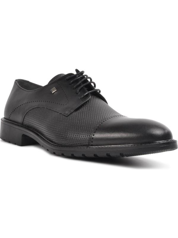 Fosco Siyah Deri Erkek Klasik Ayakkabı