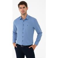 Pierre Cardin Mavi Slim Fit Basic Gömlek 50240462-VR036