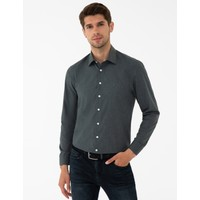 Pierre Cardin Antrasit Slim Fit Basic Gömlek 50240462-VR006
