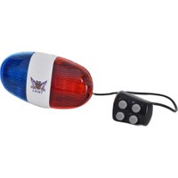 Rectus Bisiklet Korna 4 Farklı Ses+6 Farklı LED Işık+Polis Sireni