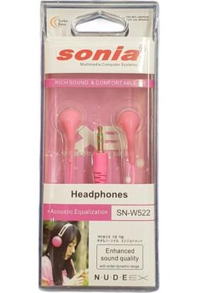 Sonia SN-W522 3.5 Jack Girişli Pembe Kulaklık