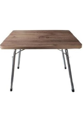 Marketonya Katlanır Masa Balkon Bahçe Kamp Masası Piknik Masası 60X80 - ÇAMÇM45