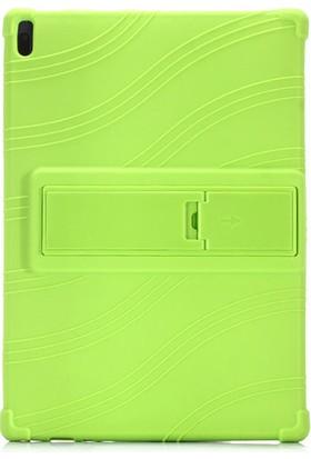 Yakuppolt Lenovo Tab E10 Tab 4 10.1 Inç Için Şeffaf Darbe Emici Silikon Kıl