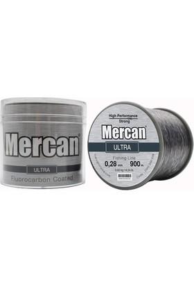 Mercan Ultra 0,28 mm 900 M Gümüş Gri Bobin Makara Misina