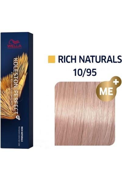 Wella Koleston Perfect Me+ 10/95 Lightest Cendre Mahogany Blonde Saç Boyası 60 ml