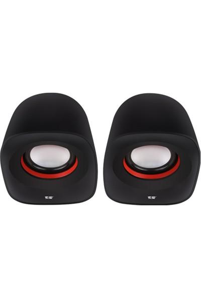 Soaiy Sa-L3 USB Speaker Ikili Masaüstü Hoparlör Siyah