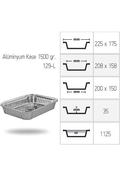 Starcup Alümiyum Kap 129/L Kapaklı 1,5 kg 1000'li