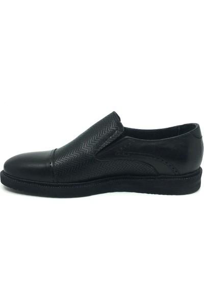 Üçlü Deri Erkek Mevsimlik Günlük Rahat Klasik Ayakkabı 40 Siyah