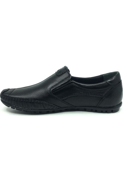 Rota Deri Erkek Yazlık Rahat Günlük Çarık Ayakkabı 40-44 40 Siyah