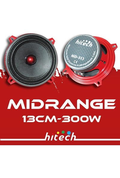 Korax MD-513 13 cm 300 Watt Midrange Hoparlör Kutusunda 1 Takım 2 Adet Bulunur