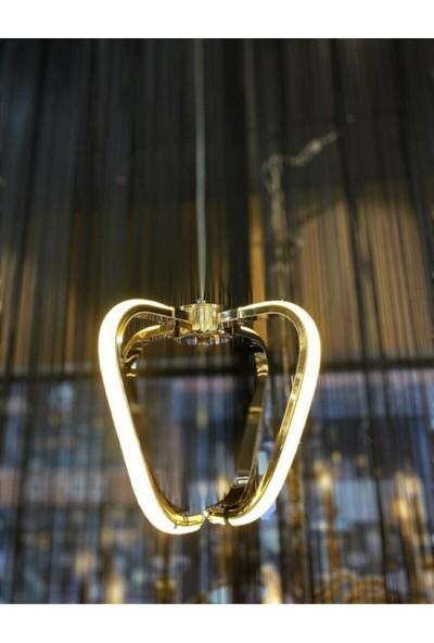 Luna Lighting Modern Tekli Sarkıt LED Avize Gold Sarı Ledli Avize