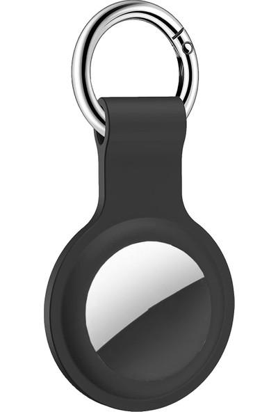 Fibaks Apple Airtag Uyumlu Kılıf Anahtarlık Tam Koruma Klasik Yumuşak Silikon
