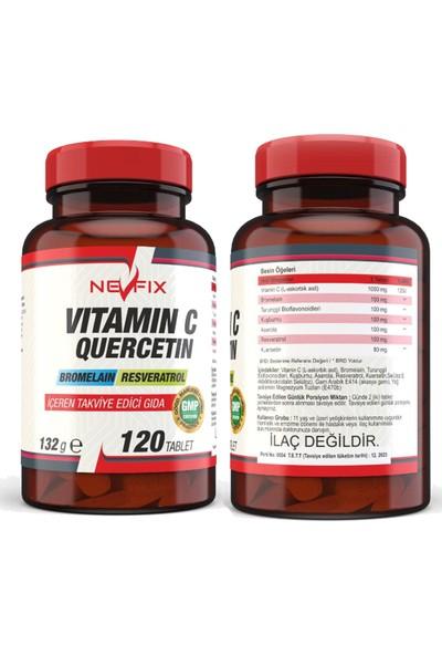 Nevfix Vitamin C Quercetin Bromelain 120 Tablet & Nevfix Vitamin D3 Sıvı Sprey